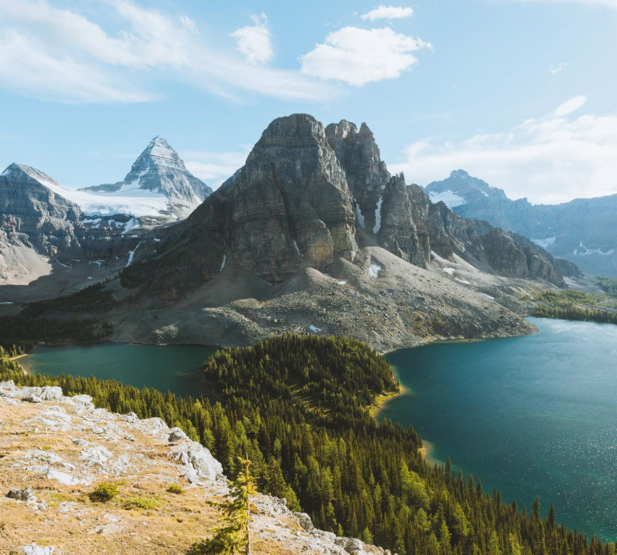 mont assiniboine mountain with lakes